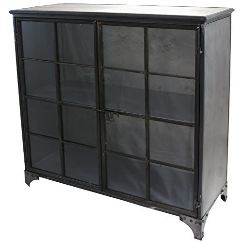 aparador industrial metal de 2 puertas aparador estilo industrial. Black Bedroom Furniture Sets. Home Design Ideas